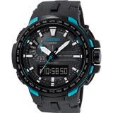 CASIO 卡西歐 PRO TREK 專業登山太陽能電波手錶-藍 PRW-6100Y-1ADR