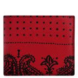 COACH 印花圖樣PVC雙摺中夾/附可拆名片短夾-紅色