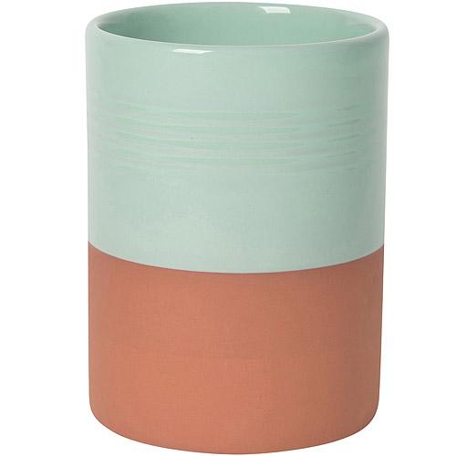 《NOW》雙色赤陶鏟匙收納筒(綠)