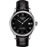 TISSOT天梭 Le Locle 80小時機械錶-黑/39mm T0064071605300