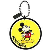 COACH Disney MICKEY造型吊飾-黃色