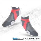 LEADER ST-02 X型繃帶 加厚耐磨避震短襪 機能除臭運動襪 女款 白灰