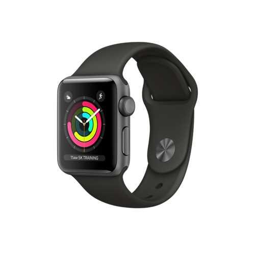 Apple Watch Series 3 GPS,42 公釐太空灰色鋁金屬錶殼搭配灰色運動型錶帶 _ 【贈專用螢幕保貼+保護套】