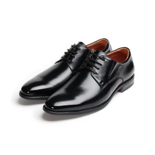 (男) BONJO 雙色燒底經典紳仕鞋 黑 男鞋 鞋全家福