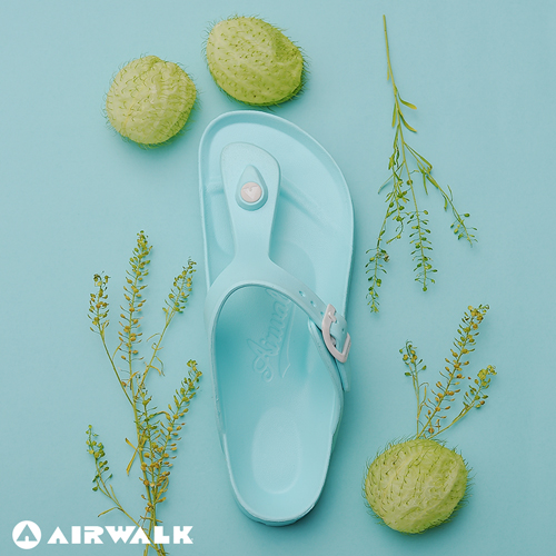 AIRWALK(女) -AB拖 EVA中性T字羅馬夾腳拖鞋-薄荷綠