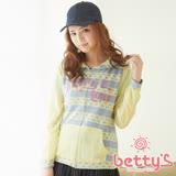 betty's貝蒂思 立體LOGO雪紡拼接外套(黃色)
