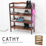 【ABOSS】 Cathy 四層巧思鞋櫃附鞋插〔DIY〕鞋架/置物架