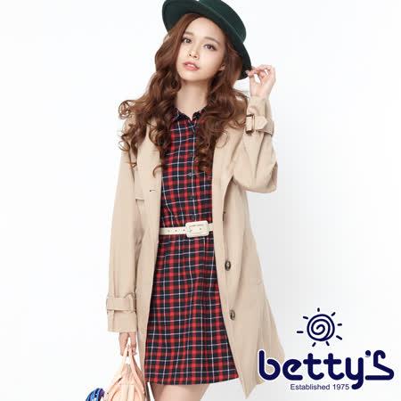 betty's  連帽大衣+格紋洋裝