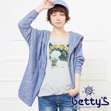 betty's貝蒂思 狗狗插圖設計兩件式連帽外套(藍色)