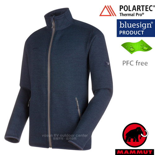 【瑞士 MAMMUT 長毛象】男新款 Arctic ML 透氣快乾彈性保暖夾克外套/Polartec Thermal Pro高效保溫.PFC-free無氟撥水/10394-5784 海洋藍