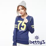 betty's貝蒂思 絨毛數字圖案造型毛衣藍色(藍色)