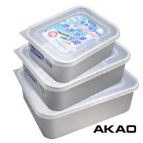 日製AKAO<br/>冷凍冷藏解凍保鮮盒-3入