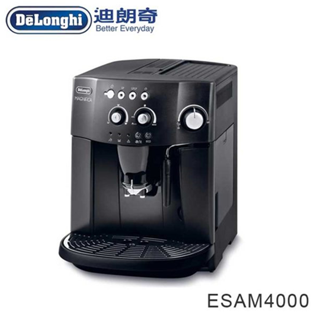 【 Delonghi】「贈飛利浦 智慧型厚片烤麵包機 白色 (HD2582)」幸福型全自動咖啡機(ESAM4000)