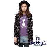 betty's貝蒂思 背面牛仔拼接圓點雪紡外套(黑色)