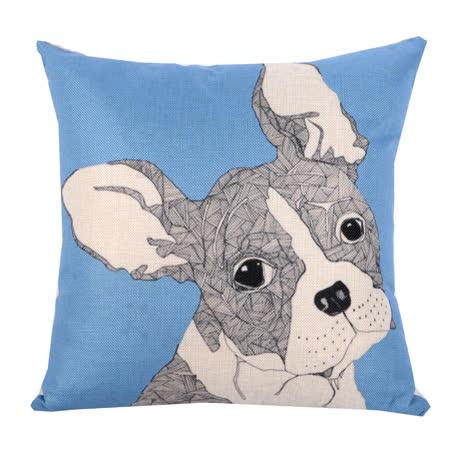 動物家族 棉麻舒適方型抱枕