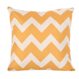 現代W幾何 棉麻舒適方型抱枕.靠枕 (黃色)