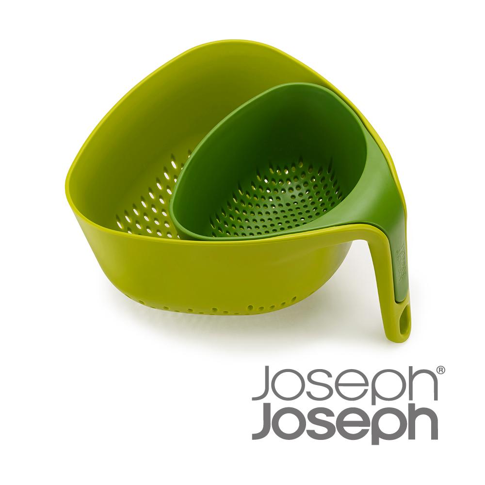 Joseph Joseph英國 餐廚~Nest濾籃二件組 綠 ~