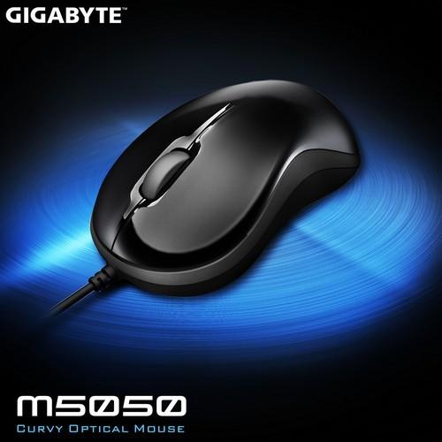 技嘉 GIGABYTE USB光學 鏡面美型滑鼠 黑色