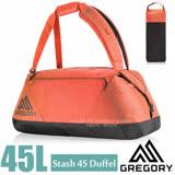 【美國 GREGORY】新款 Stash Duffel 45L 超輕多功能耐磨三用裝備袋(後背包/手提袋)旅行袋.行李袋/適自助旅行.出國洽公/65899 秋日紅