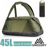 【美國 GREGORY】新款 Stash Duffel 45L 超輕多功能耐磨三用裝備袋(後背包/手提袋)旅行袋.行李袋/適自助旅行.出國洽公/65899 深橄欖綠