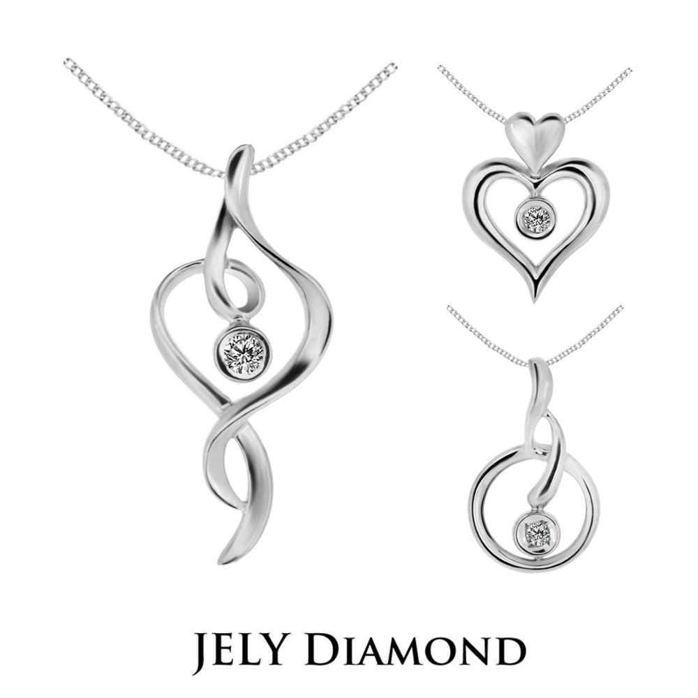 【JELY DIAMOND】3分天然鑽石墜鍊 (任選)