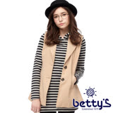 betty's貝蒂思 口袋翻領雙鈕釦背心外套(卡其色)