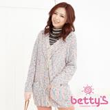 betty's貝蒂思 混毛球澎澎毛針織外套(混淺綠)