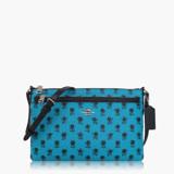 COACH 輕便小包 PVC / 側背 / 斜背包(花繪系列) 藍綠 38159