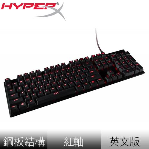 Kingston 金士頓 HyperX Alloy FPS 紅軸 機械式鍵盤《英文版》