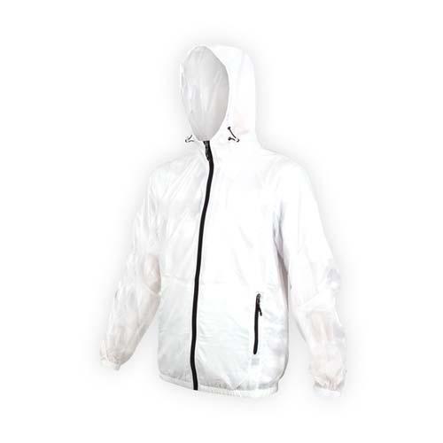 (男) SOFO 抗UV果凍外套-可收納-連帽外套 慢跑 路跑 白黑