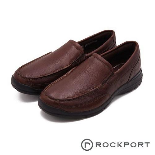 Rockport 防潑水系列 都會雅仕輕量休閒 男鞋-深咖(另有黑)