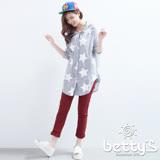 betty's貝蒂思 修飾剪裁設計長褲(酒紅)