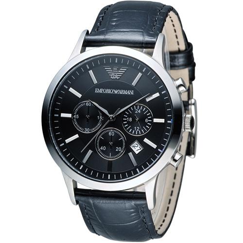 ARMANI 亞曼尼  Classic 簡約內斂計時腕錶 AR2447
