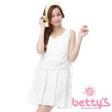 betty's貝蒂思 側身蝴蝶結綁帶圓點無袖洋裝(白色)