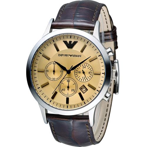 ARMANI 亞曼尼  Classic 時尚計時腕錶 AR2433
