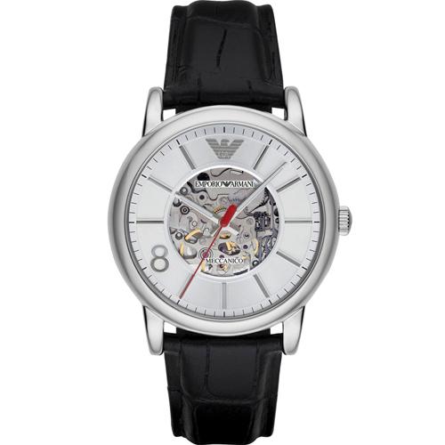ARMANI 亞曼尼  Meccanico 雙面鏤空機械腕錶 AR1997
