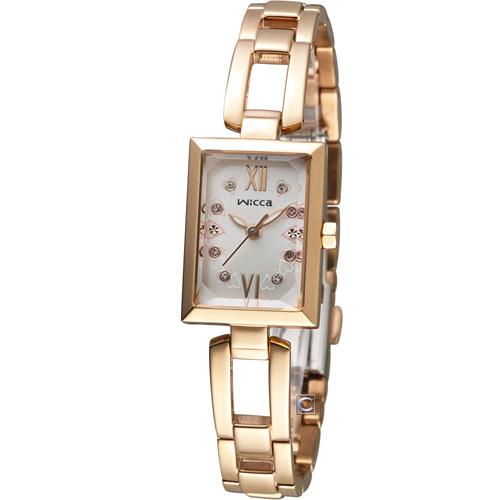 WICCA 玩美蜜糖魅力限量腕錶 BE1-020-21 玫瑰金色