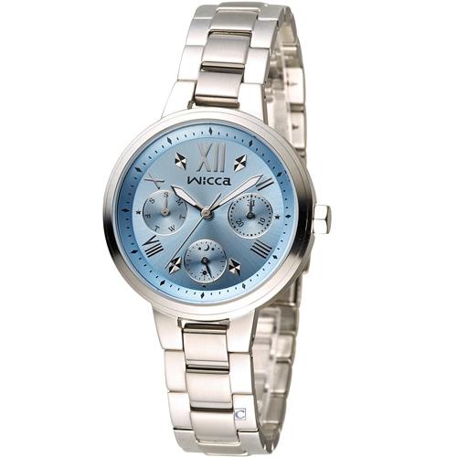 WICCA 英倫少女時尚腕錶 BH7-512-71 藍