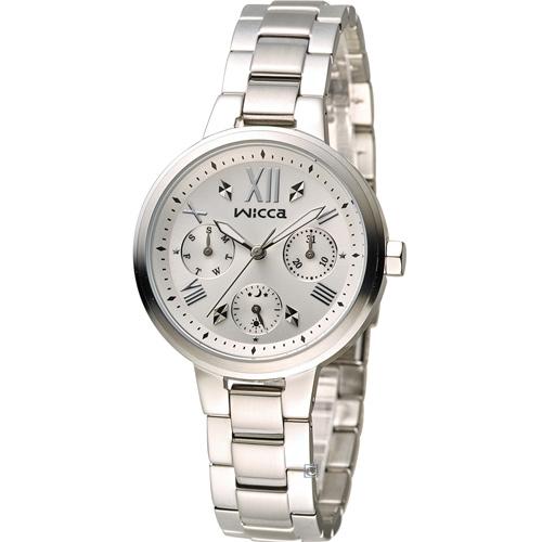 WICCA 英倫少女時尚腕錶 BH7-512-11 白