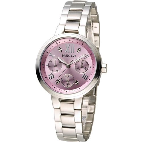 WICCA 英倫少女時尚腕錶 BH7-512-91 粉