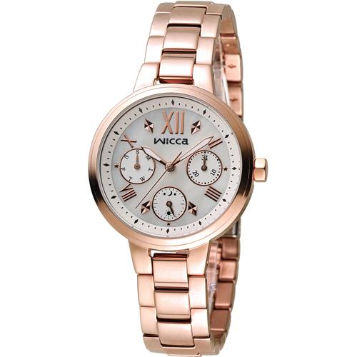 WICCA 英倫少女時尚腕錶 BH7-521-11 玫瑰金色
