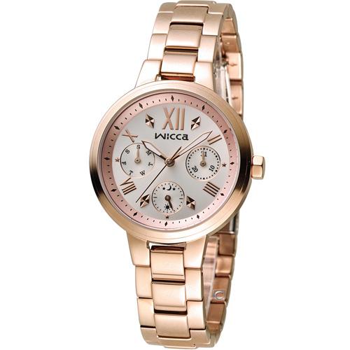 WICCA 英倫少女時尚腕錶 BH7-521-21