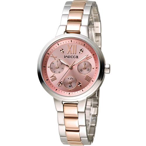 WICCA 英倫少女時尚腕錶 BH7-539-91 雙色
