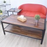 凱堡 工業風集成木紋大茶几桌 防潑水