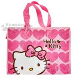 〔小禮堂〕Hello Kitty 購物袋《L.粉.愛心.點點蝴蝶結》棉被袋.衣物收納袋