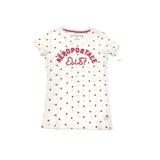 AIU100%【AERO】女款短袖T恤-紅點拼布 8008