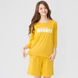 [Wonderland] 樂活運動居家休閒衣褲組(黃)