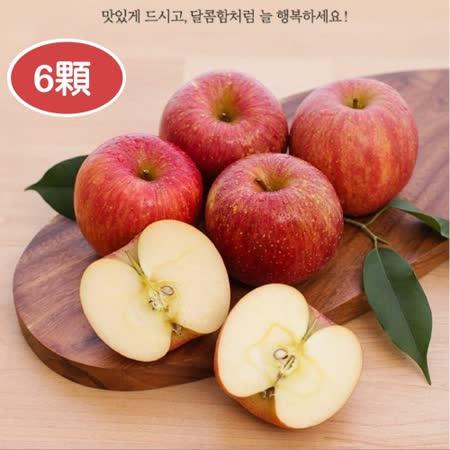 【果之蔬】韓國無蠟清脆富士蘋果X6顆(每顆260g±10%) -friDay購物