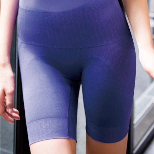 【華歌爾】玫瑰果油美肌好享受64-82長褲管修飾褲(彩繪紫)