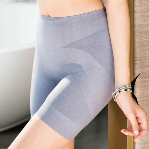 【華歌爾】玫瑰果油美肌好享受64-82長褲管修飾褲(煙燻灰)